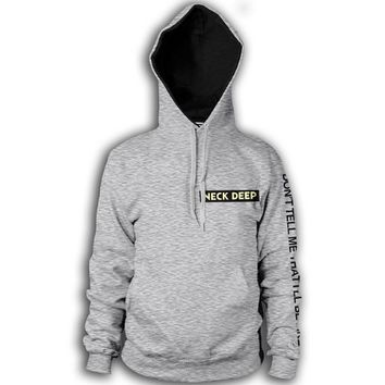 Logo Heather Grey Pullover : Neck Deep
