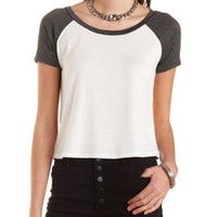 Cropped Swing Baseball Tee by Charlotte Russe