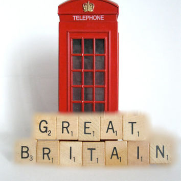 Great Britain UK Tile Magnet Geekery Humor Wood Home Decor