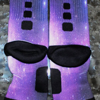 Custom Nike Elite Socks galaxy foamposite