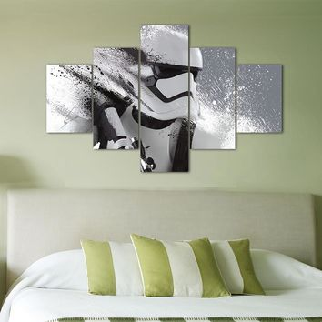 Print Stormtrooper Star Wars Movie Modular Paintings On The Wall  Modern Home Decor Wall Art Poster Home Decor For Kids Room