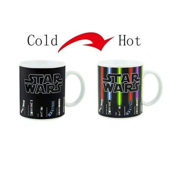 Star Wars Force Episode 1 2 3 4 5 Hot Sale Tea Coffee Mug Magic Mugs Cup Change Color  Lightsaber Heat Reveal Ceramic Mug Kids gift AT_72_6