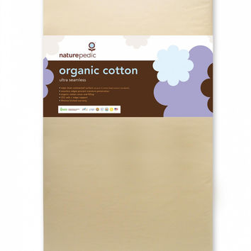 Naturepedic Crib Mattress - Organic Cotton Ultra 252 Seamless