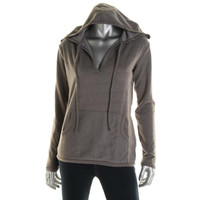 Fluxus Womens Knit Long Sleeves Hoodie