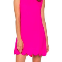 Tiffany Scallop Dress | Pink