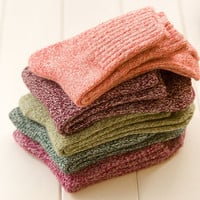 1 pairs Women Wool Cashmere Thick Warm Soft Vogue Men Women Ankle Socks