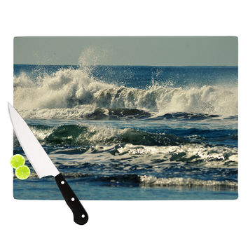 "Robin Dickinson ""Forever Young"" Blue Coastal Cutting Board"