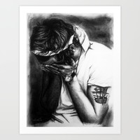 Charcoal Harry Art Print by Cyrilliart
