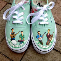 Custom painted Mumford and Sons Inspired Shoes by HJArtistry