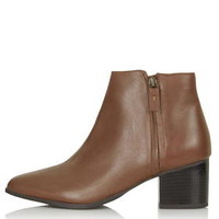 BARDOT Heeled Ankle Boots - Tan