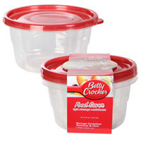 Bulk Betty Crocker Round Plastic Food Saver Storage Containers, 2-ct. Packs at DollarTree.com