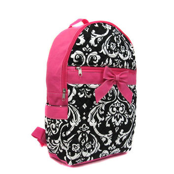 Large Quilted Floral Backpack-available in several colors!