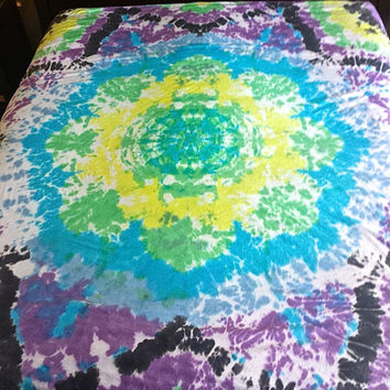 Flower of Life Tie Dye Mandala Duvet Cover (Full/Queen Size)