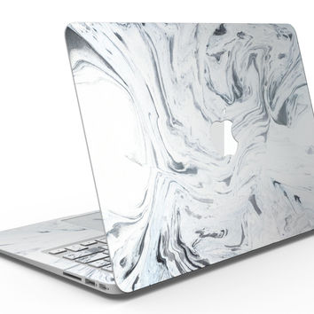 Mixtured Gray to Blue v9 Textured Marble - MacBook Air Skin Kit