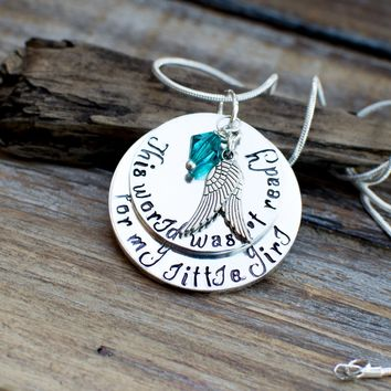 loss of daughter, memorial gift daughter necklace, bereavement gift daughter loss, sympathy gift, memorial jewelry, in memory of daughter
