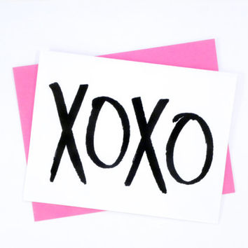 Love Card / XOXO / Valentines Day Card