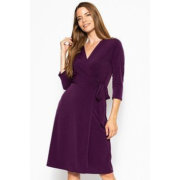 Women's Casual Fashion Dresses Modest Style Dress Midi 3/4 Sleeve Dress