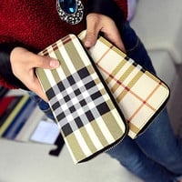 Fashion Plaid wallet women wallets women's purse female clutch bag brand wallet women pruses walet