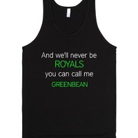 Greenbean Royal-Unisex Black Tank