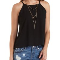 High-Low Chiffon Tank Top by Charlotte Russe