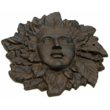 Large Rust Cast Iron Woman Face