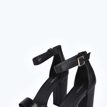 Rosa Metallic Trim Block Heels