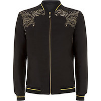 Versace Collection Stud Motif Bomber Jacket