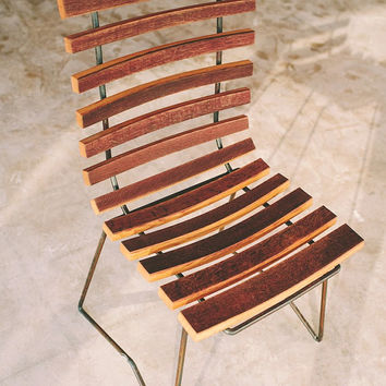 Cask side chair, handcrafted rocking chair, rustic modern