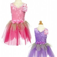 Princess Stretch Velvet and Flower Dress with Sequins