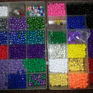 Large kandi creation grab bag; kandi making supplies, kandi beads, kandi grab bag, cute kandi, kandi charms, charms, edc, festival kandi