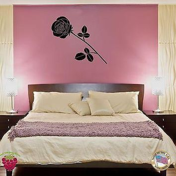 Wall Sticker Rose Flower Floral Decor for Your Bedroom  Unique Gift z1418