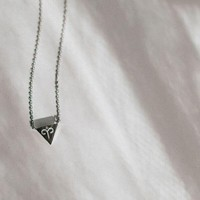 Zodiac Charm Necklace In Silver - Aries