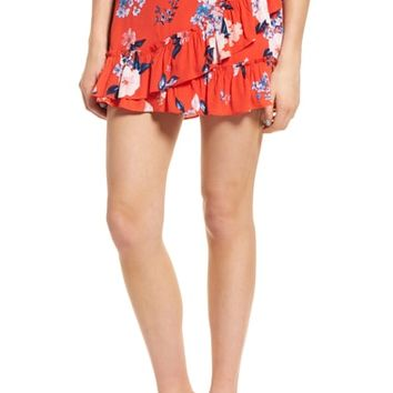 cupcakes and cashmere Elisa Floral Ruffle Skirt | Nordstrom
