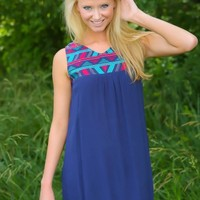 Just Say When Dress-Navy