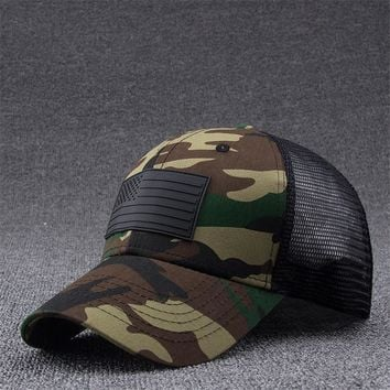 Trendy Winter Jacket Jamont Camo Mesh Trucker Cap Men Camouflage Adjustable Baseball Cap Tactical Army Masculino Bone Snapback Summer Hip Hop Dad Hat AT_92_12