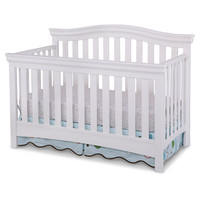 Delta Bennington Bell Curved Lifetime Crib - White Ambiance