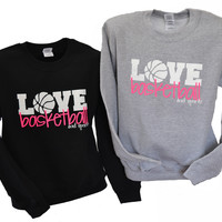 LOVE Basketball Crew Neck Sweatshirt