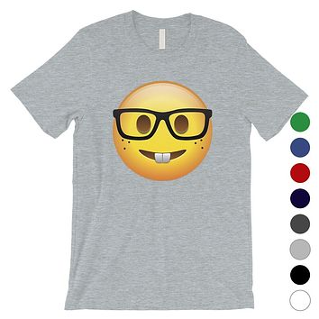 Emoji-Nerd Mens Cute Sweet Perfect Funny Cool T-Shirt Friend Gift