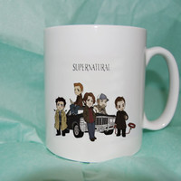 Supernatural cartoon custom mug, cup, funny mug , funny cup heppy cofee.