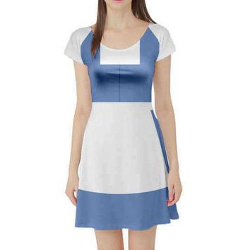 Town Belle Beauty and the Beast Inspired Short Sleeve Skater Dress