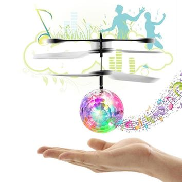 RC Flight Ball Flying Ball Induction Aircraft Light Mini Heli Toy Shine Musical Shape Gift Children's RC Toy