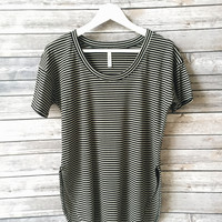 Eliza Striped Tee (Black)