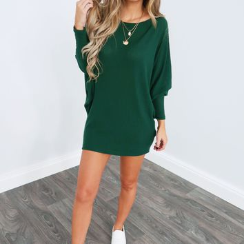 What Can I Say Tunic: Emerald Green