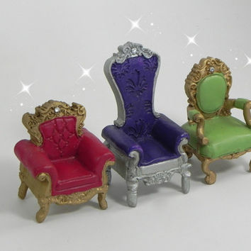 ONE Fairy Garden Accessories throne castle chair princess chair fairy tale garden miniature garden accessory terrarium supply mini furniture