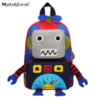 New Brand Cute Robot Backpack for Children High-quality Lovely Robot Schoolbag for Kids Kindergarten Students Satchels