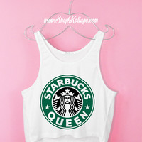 Starbucks Queen Crop Tank Top