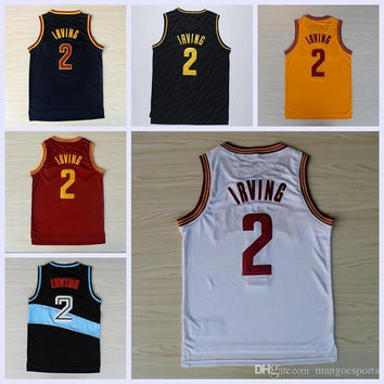 Best Quality Men 2 Kyrie Irving Jersey Rev 30 New Material Shirt Uniform Fashion Trowback Red White Yellow Black Navy Blue