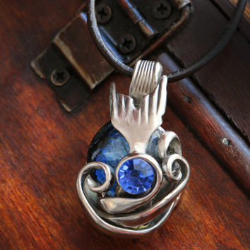 Lady In The Water Mermaid Fork Pendant Or Ariel's Dinglehopper Pendant