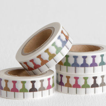 Thumbtack Washi Tape for Life Planner, Day Planner Stickers, Agenda Accessories, Teacher Planner Stickers, 15mm Wide
