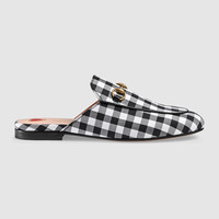 Gucci Princetown check fabric slipper
